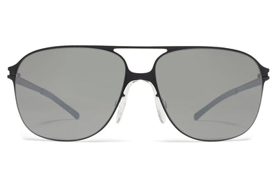 MYKITA & Bernhard Willhelm - Schorsch Sunglasses F25 Matte Black with Mirror Black Lenses