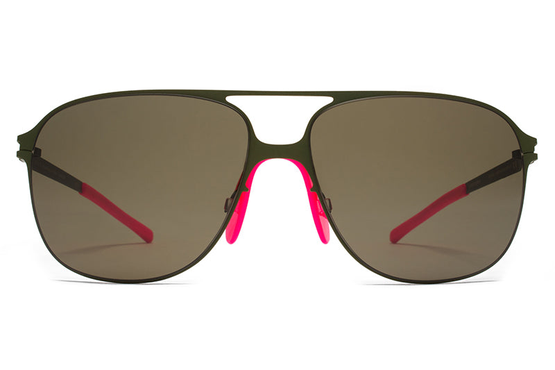 30dde1bdda MYKITA   Bernhard Willhelm - Schorsch Sunglasses F66 Olive with Raw Green  Solid Lenses