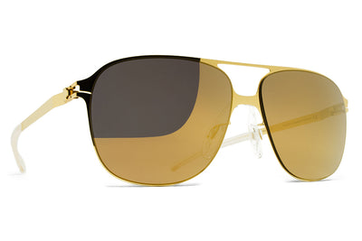 MYKITA & Bernhard Willhelm - Schorsch Sunglasses F9 Gold with Gold Flash Lenses