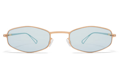 MYKITA & Bernhard Willhelm - Silver Sunglasses Champagne Gold with Soft Green Solid Lenses