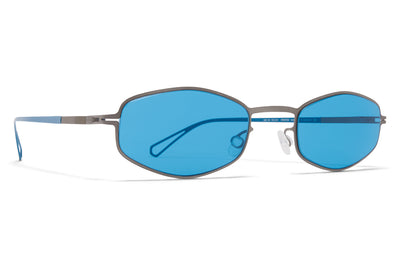 MYKITA & Bernhard Willhelm - Silver Sunglasses Grey with Turquoise Solid Lenses