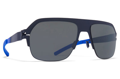 MYKITA & Bernhard Willhelm - Super Sunglasses Indigo/Neon Blue with Mirror Black Lenses