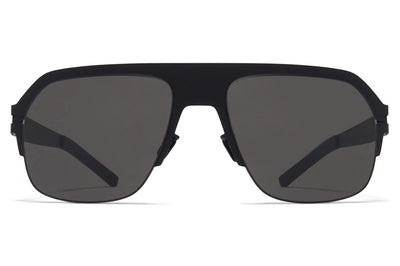 MYKITA & Bernhard Willhelm - Super Sunglasses Matte Black with Dark Grey Solid Lenses
