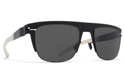 MYKITA & Bernhard Willhelm - Total Sunglasses Black/Chantilly White with Dark Grey Solid Lenses