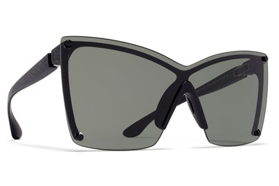 MYKITA & Bernhard Willhelm - Tyrese Sunglasses MD1 - Pitch Black with Dark Grey Solid Shield