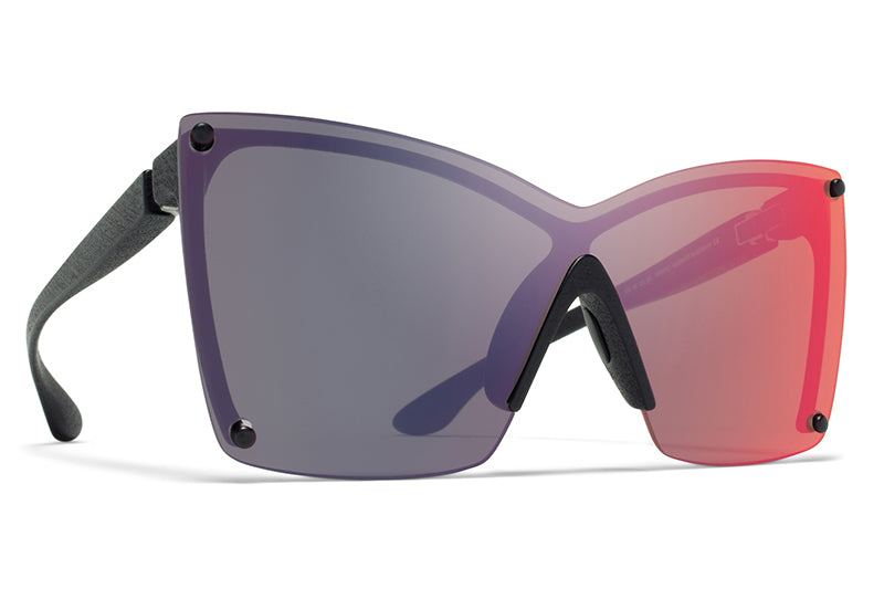 MYKITA & Bernhard Willhelm - Tyrese Sunglasses MD1 - Pitch Black with Infrared Flash Shield