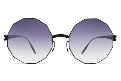 MYKITA & Bernhard Willhelm  - Veruschka F25 Matte Black with Grey Gradient Lenses