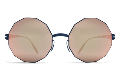MYKITA & Bernhard Willhelm  - Veruschka F65 Navy Blue with Rose Gold Flash Lenses