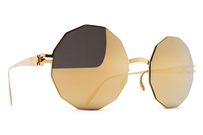 MYKITA & Bernhard Willhelm  - Veruschka F9 Gold with Gold Flash Lenses
