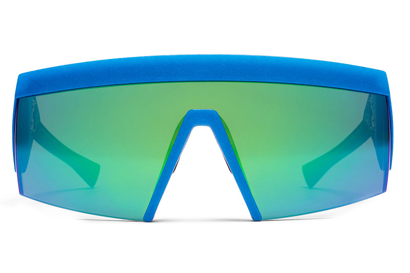 MYKITA & Bernhard Willhelm - Vice MM10 Black/Blue with Lateral Green Flash Lens