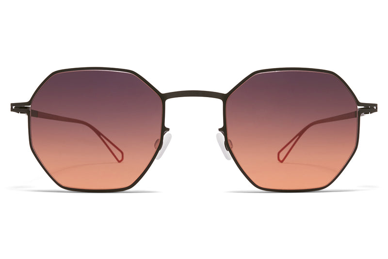 MYKITA & Bernhard Willhelm - Walsh Sunglasses Black with Black/Orange Gradient Lenses