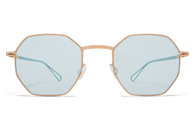 MYKITA & Bernhard Willhelm - Walsh Sunglasses Champagne Gold with Soft Green Solid Lenses