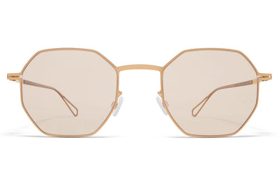 MYKITA & Bernhard Willhelm - Walsh Glossy Gold with Soft Brown Solid Lenses