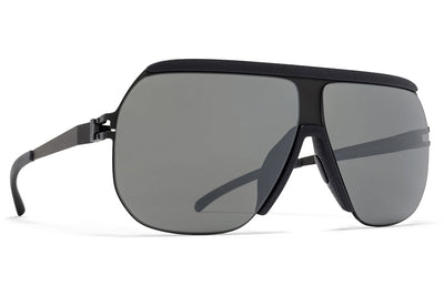 MYKITA & Bernhard Willhelm - Wolfi Sunglasses MH6 Pitch Black/Black with Mirror Black Lenses