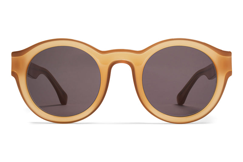 MYKITA + Martin Margiela - MMDUAL002 Sunglasses D6 Brown/Dark Brown with Brown Solid Lenses