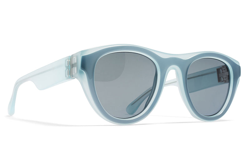 MYKITA + Martin Margiela - MMDUAL003 Sunglasses D7 Teal/Petrol with Dark Blue Solid Lenses