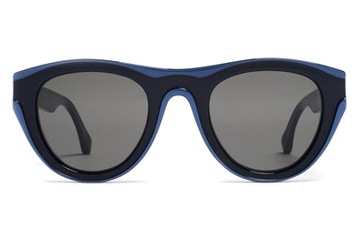 MYKITA + Martin Margiela - MMDUAL004 Sunglasses D3 Blue/Navy Blue with Dark Grey Solid Lenses
