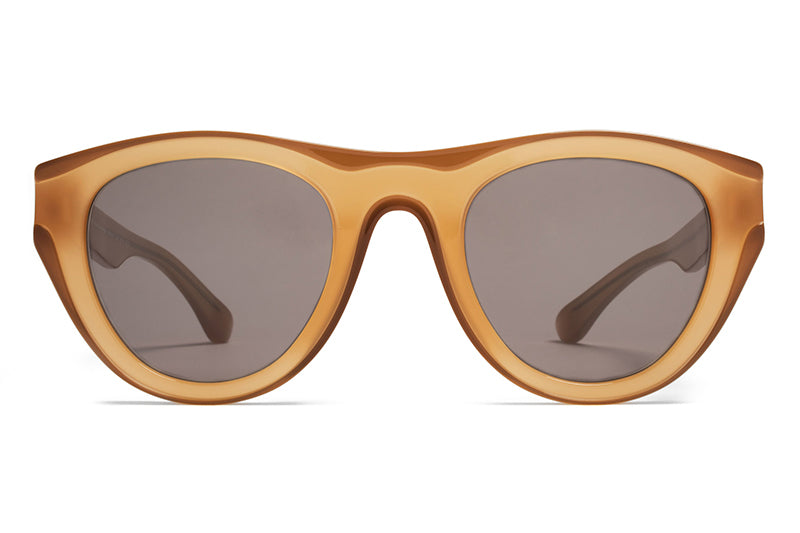 MYKITA + Martin Margiela - MMDUAL004 Sunglasses D6 Brown/Dark Brown with Brown Solid Lenses