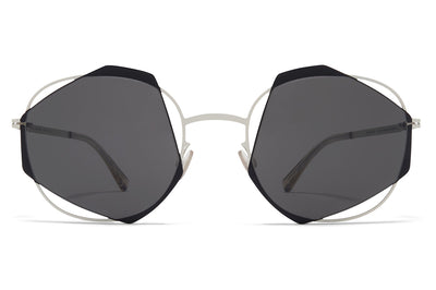MYKITA - Achilles Sunglasses Antique White/Black with Dark Grey Solid Lenses