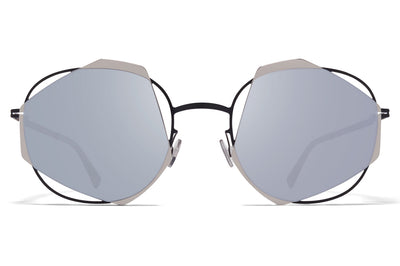 MYKITA / Damir Doma - Achilles Sunglasses Black/Silver with Silver Flash Lenses