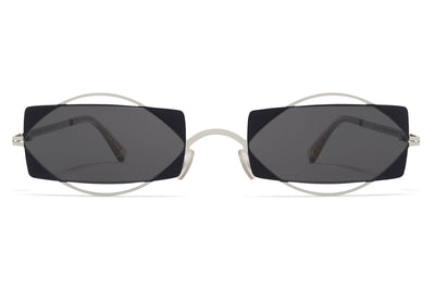 MYKITA / Damir Doma  - Charlotte Sunglasses Antique White with Dark Grey Solid Lenses