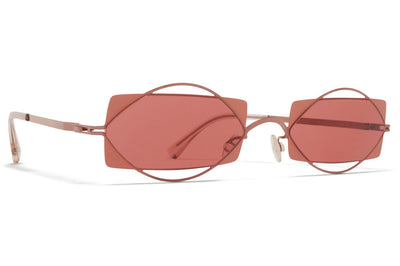 MYKITA / Damir Doma  - Charlotte Sunglasses Purple Bronze/Pink Clay with Purple Solid Lenses