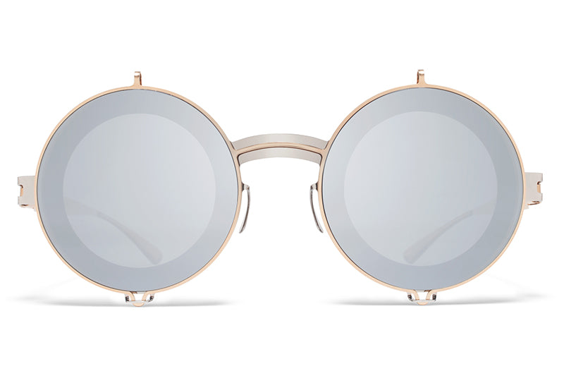MYKITA / Damir Doma  - Fedor Sunglasses Silver/Champagne Gold with Silver Flash Lenses