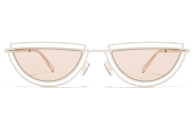 MYKITA / Damir Doma  - Monogram Sunglasses  Antique White with Nude Solid Lenses