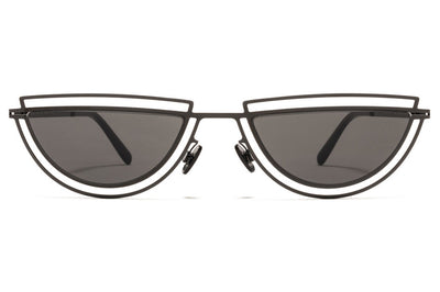 MYKITA / Damir Doma  - Monogram Sunglasses  Shiny Black with Dark Grey Solid Lenses