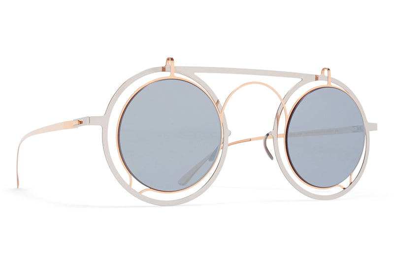 MYKITA / Damir Doma  - Siru Sunglasses Silver/Champagne with Silver Flash Lenses