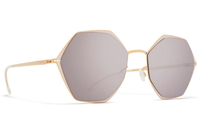 MYKITA - Alessia Sunglasses Champagne Gold/Aurore with Dark Purple Flash Lenses