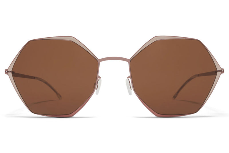 MYKITA - Alessia Sunglasses Purple Bronze/Sand Clay with Brown Solid Lenses