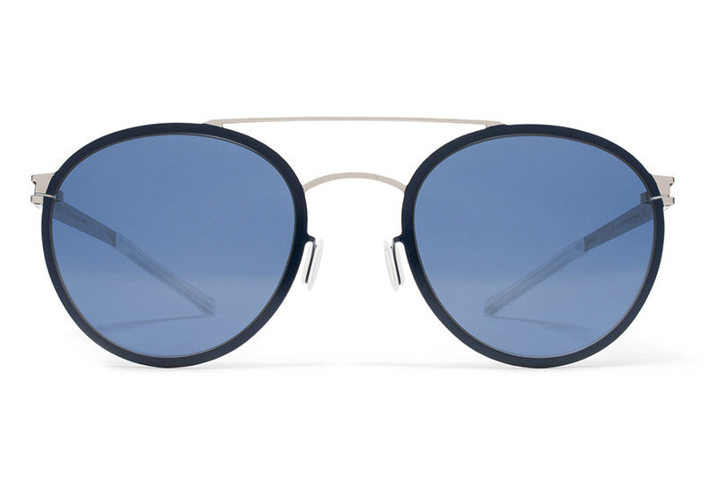 e780c4445964 MYKITA Sunglasses - Buster Silver/Night Sky with Saphire Blue Lenses