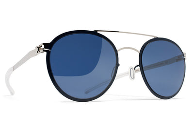 MYKITA Sunglasses - Buster Silver/Night Sky with Saphire Blue Lenses