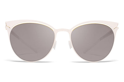 MYKITA Sunglasses - Cara Champagne Gold/Aurore with Dark Purple Flash Lenses