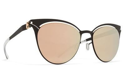 MYKITA Sunglasses - Cara Champagne Gold/Ebony Brown with Champagne Gold Lenses