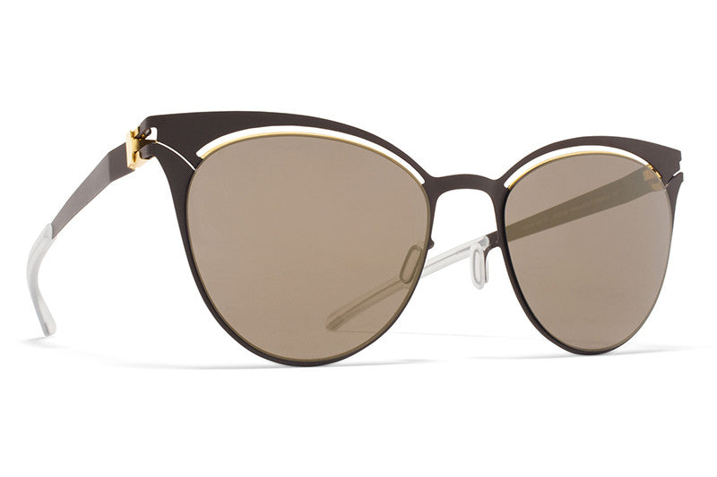 5b4ff64671 MYKITA Sunglasses - Cara Gold Terra with Brilliant Grey Solid Lenses