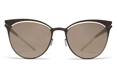 MYKITA Sunglasses - Cara Gold/Terra with Brilliant Grey Solid Lenses