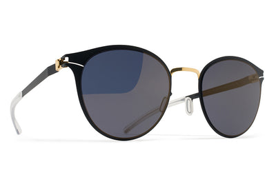 MYKITA Sunglasses - Celeste Gold/Indigo with Brilliant Blue Solid Lenses