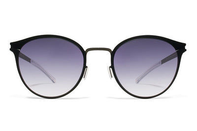 MYKITA Sunglasses - Celeste Shiny Black with Grey Gradient Lenses