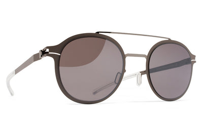 MYKITA Sunglasses - Crosby Shiny Graphite/Mole Grey with Dark Purple Flash Lenses