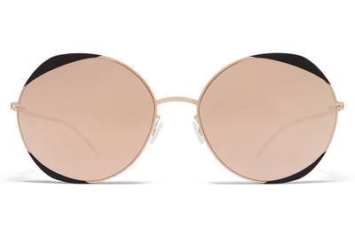 MYKITA - Elisa Sunglasses Champagne Gold/Ebony Brown with Champagne Gold