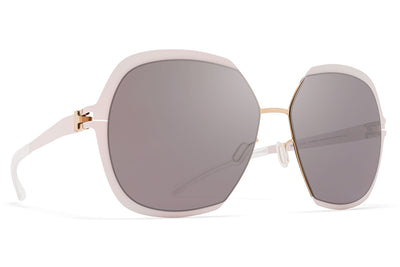 MYKITA Sunglasses - Felicia Champagne Gold/Aurore with Dark Purple Flash Lenses