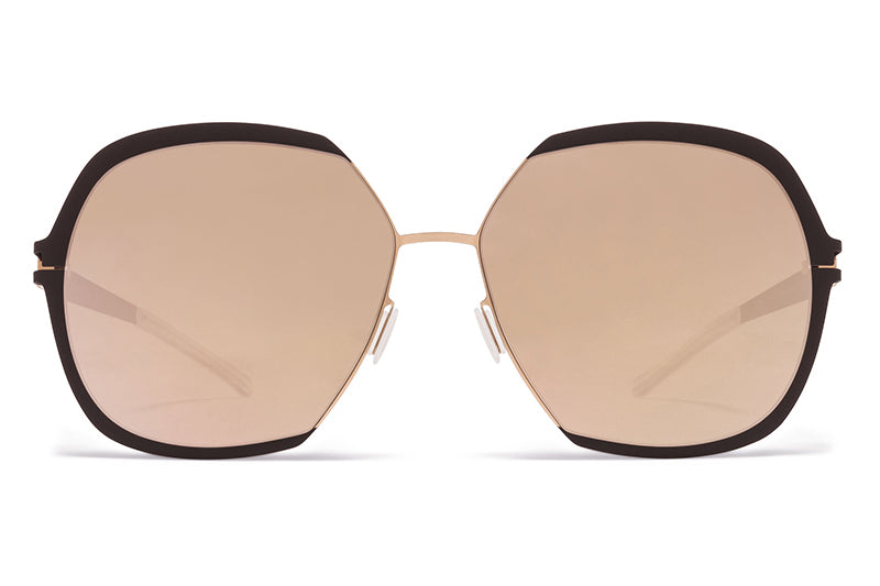 MYKITA Sunglasses - Felicia Champagne Gold/Ebony Brown with Champagne Gold Lenses