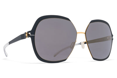 MYKITA Sunglasses - Felicia Gold/Indigo with Brilliant Blue Solid Lenses