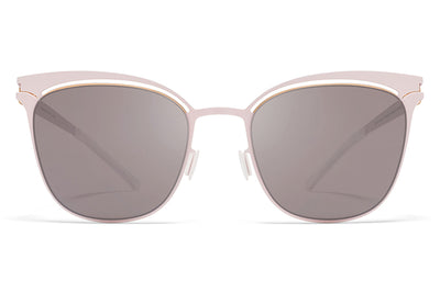 MYKITA Sunglasses - Gina Champagne Gold/Aurore with Dark Purple Flash Lenses