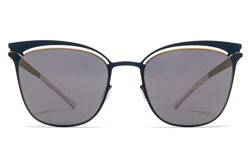 MYKITA Sunglasses - Gina Gold/Indigo with Brilliant Blue Solid Lenses