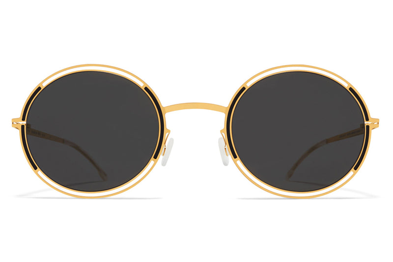 MYKITA - Giselle Sunglasses Gold/Jet Black with Dark Grey Lenses