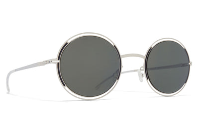 MYKITA - Giselle Sunglasses Silver/Black with Mirror Black Lenses