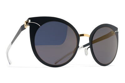 MYKITA Sunglasses - Giulietta Gold/Indigo with Brilliant Blue Solid Lenses
